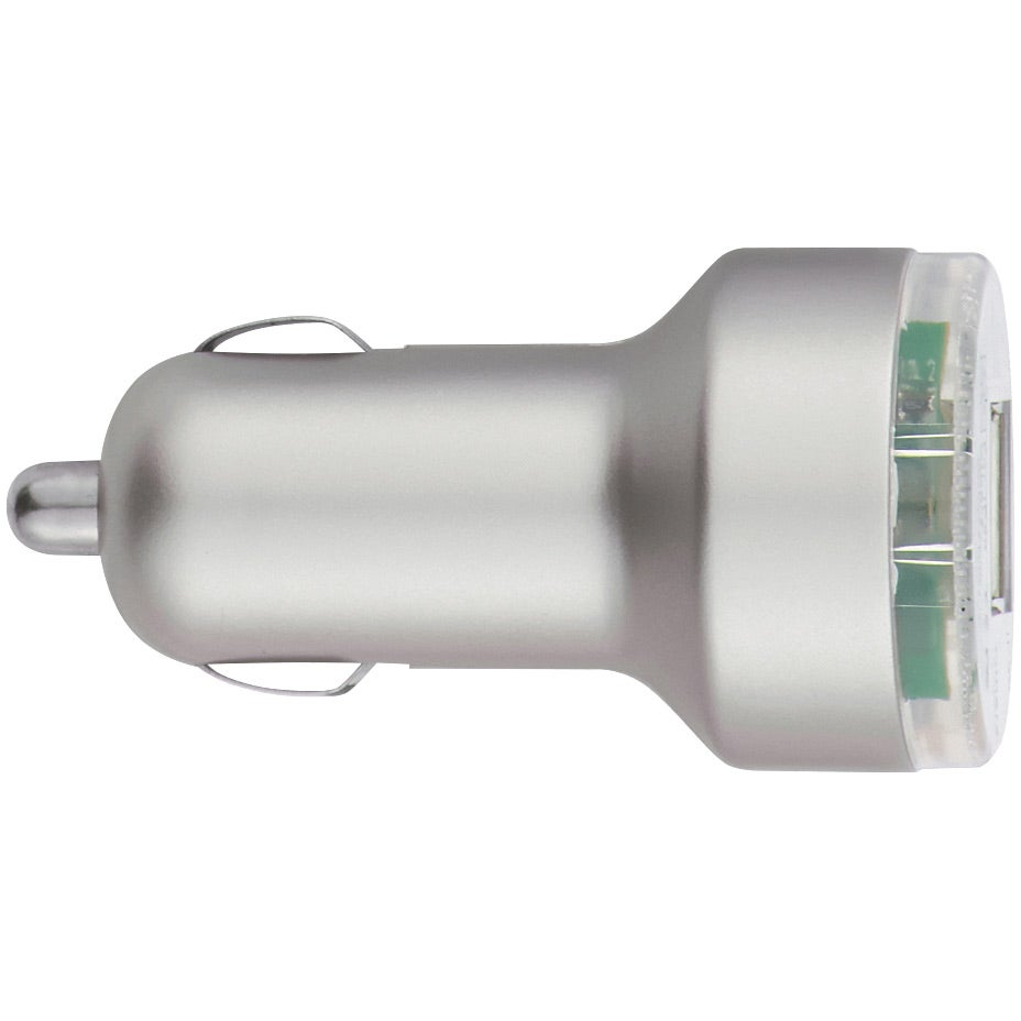 USB Dual Car Charger (Silver)