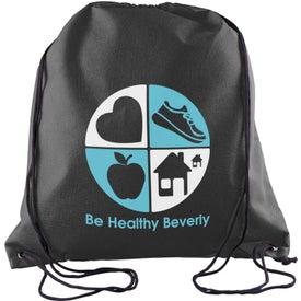 Promotional Sophomore Value-Pack Drawstring Backpack