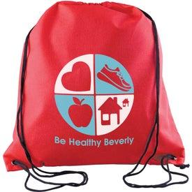 Sophomore Value-Pack Drawstring Backpack for Promotion