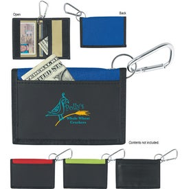 Velcro Wallet With Carabiner for Marketing