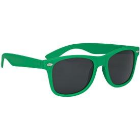 Monogrammed Velvet-Touch Matte Sunglasses