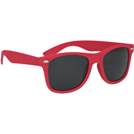 Velvet-Touch Matte Sunglasses with Your Slogan