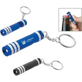 Advertising Versa Aluminum LED Key Light With Bottle Opener