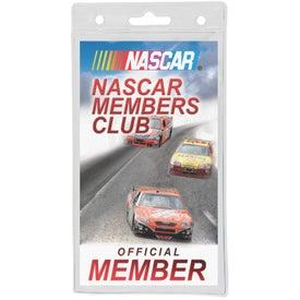 Imprinted Vertical Plastic ID Badge
