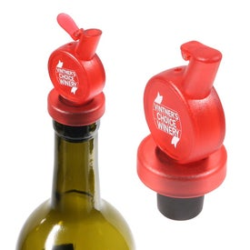 Vintage Stock Wine Stopper and Pourer for Customization