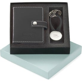 Vinyl Card Holder and Key Ring Set with Your Logo