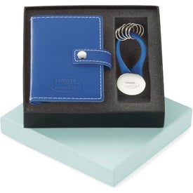 Personalized Vinyl Card Holder and Key Ring Set