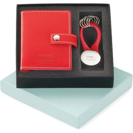 Vinyl Card Holder and Key Ring Set for Your Company