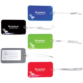 Vinyl Luggage Tag w/ Business Card Slot Printed with Your Logo