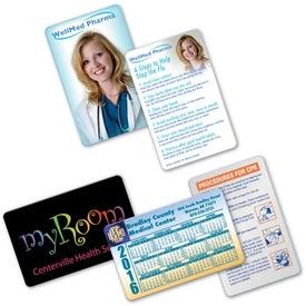 Calendar, Pharma, and Health VIP Card