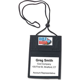 Vylon Badge Holder with Adjustable Neck Cord with Your Slogan