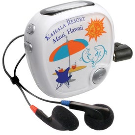 Walk N' Roll Radio Pedometer Branded with Your Logo