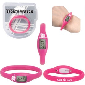 Imprinted Water Resistant Silicone Sports Watch