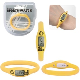 Advertising Water Resistant Silicone Sports Watch