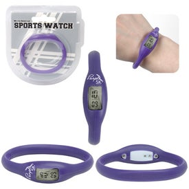 Water Resistant Silicone Sports Watch for Promotion