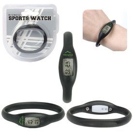 Water Resistant Silicone Sports Watch Giveaways