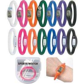 Personalized Water Resistant Silicone Sports Watch