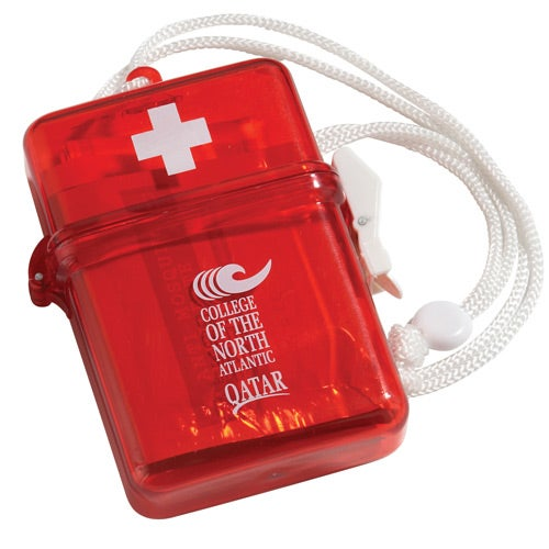 Translucent Red Waterproof First Aid Kit