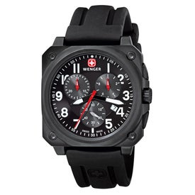Wenger AeroGraph Cockpit Rubber Strap Chrono Watch