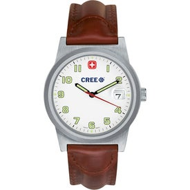 Wenger Men's Classic Field Brown Strap Watch