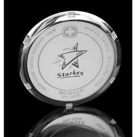 Monogrammed Wenger Men's Standard Issue Brown Strap Watch