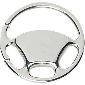 Logo Wheel Metal Key Tag