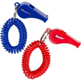 Company Whistle Coil Keychain