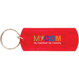 Imprinted Whistle Key Chain