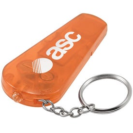 Whistle Keychain Light Printed with Your Logo