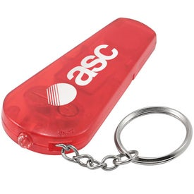 Imprinted Whistle Keychain Light