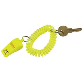 Company Whistle Keychain with Coil