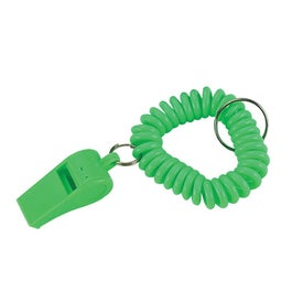 Whistle Keychain with Coil Printed with Your Logo