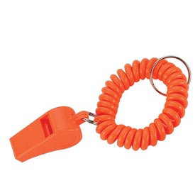Advertising Whistle Keychain with Coil