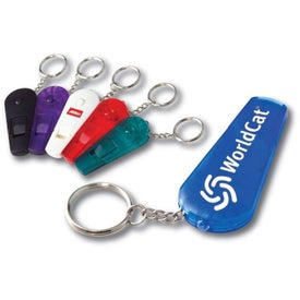 Whistle Keychain with LED