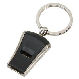 Imprinted Whistle Keyfob