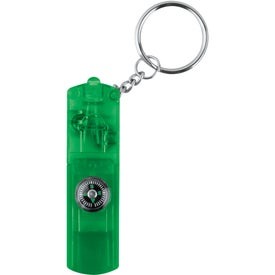 Whistle Key Light with Compass for Your Company