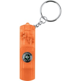 Promotional Whistle Key Light with Compass