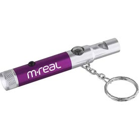 Whistle Key-Light with Compass with Your Logo