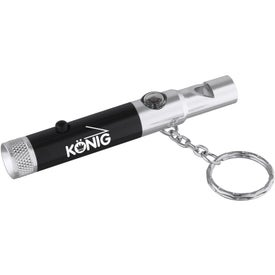 Personalized Whistle Key-Light with Compass
