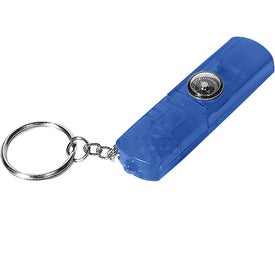 Whistle, Light, and Compass Key Chain Branded with Your Logo