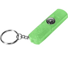 Monogrammed Whistle, Light, and Compass Key Chain