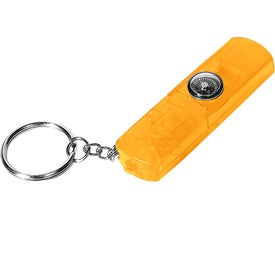 Whistle, Light, and Compass Key Chain Imprinted with Your Logo