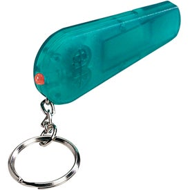 Imprinted Whistle Light/Key Chain