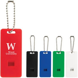 Promotional Whistle with Ball Chain