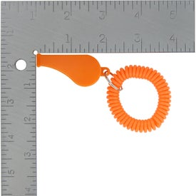 Whistle with Coil with Your Slogan