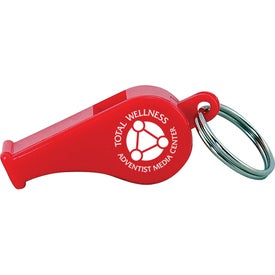 Colorful Whistle Keytag with Your Slogan