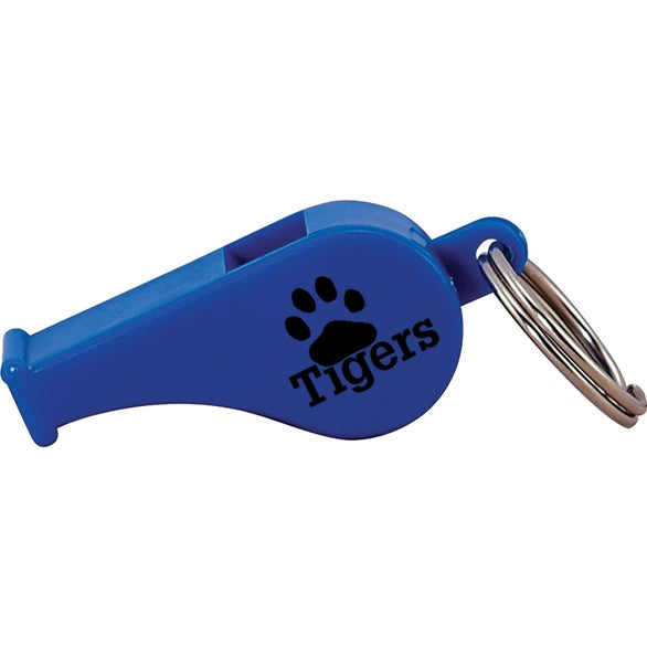 Blue Colorful Whistle Keytag