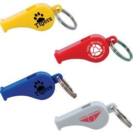 Printed Colorful Whistle Keytag