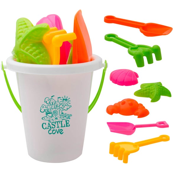 White Beach Bucket Set