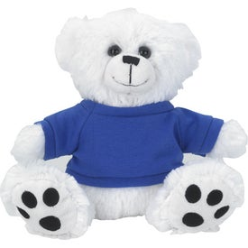 Plush Big Paw Bear With Shirt (White)